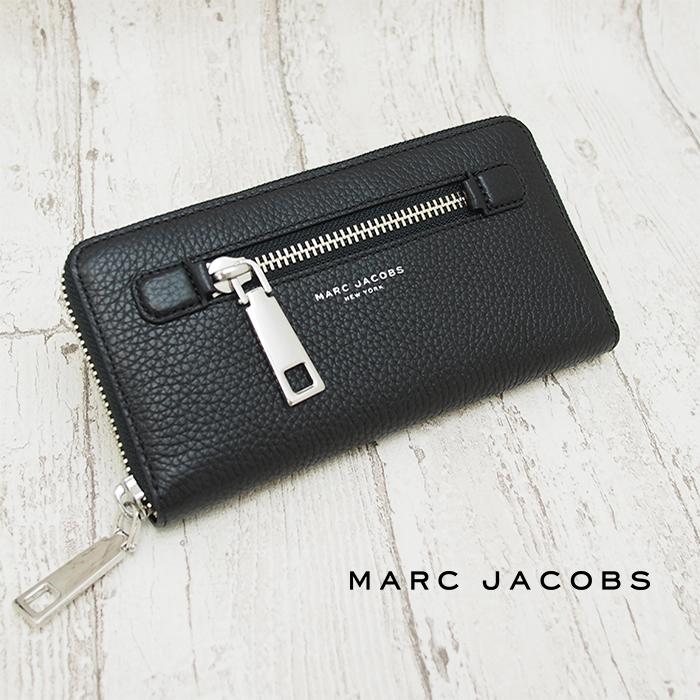 MARC JACOBS マークジェイコブス ラウンドファスナー長財布 ブラック M0008449 001 GOTHAM マークジェイコブス 財布
