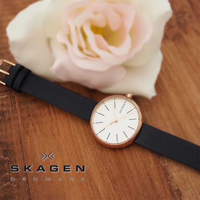 SKAGEN スカーゲン レディース 腕時計 SIGNATUR シグネチャー 30mm ローズゴールド×ネイビー SKW2592 スカーゲン 腕時計 レディース