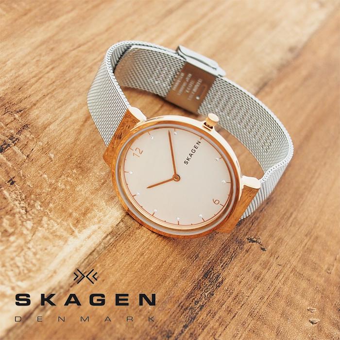 SKAGEN スカーゲン レディース 腕時計 Ancher アンカー 32mm シルバー×ローズゴールド SKW2616 スカーゲン 腕時計 レディース