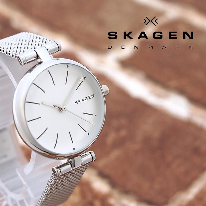 SKAGEN スカーゲン レディース 腕時計 SIGNATUR シグネチャー 27mm ホワイト×シルバー SKW2642 スカーゲン 腕時計 レディース