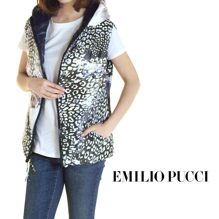 EMILIO PUCCI エミリオプッチ リバーシブルダウンベスト 16YC10 DB/WT 064 サイズ40