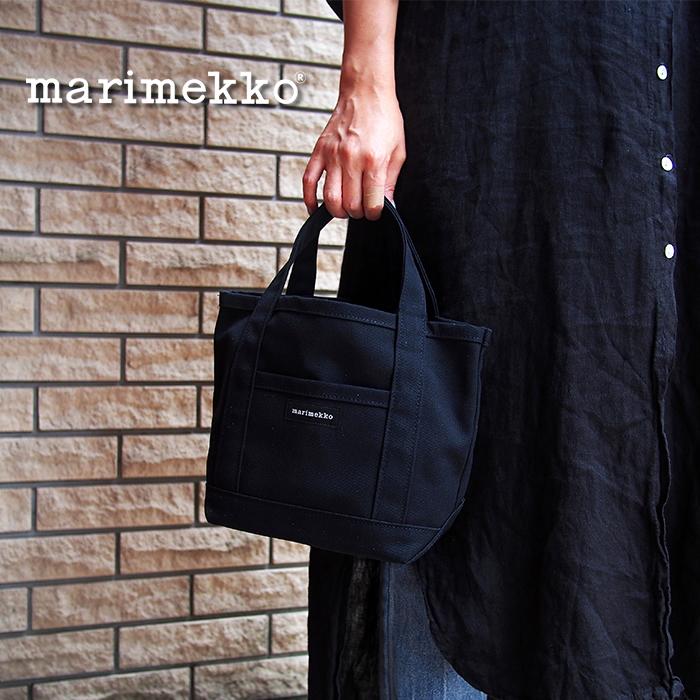 MARIMEKKO マリメッコ ミニトートバッグ 044400 ハンドバッグ ブラック 開催中 PERUSKASSI 評判 MINI 2 トートバッグ ミニペルスカッシ
