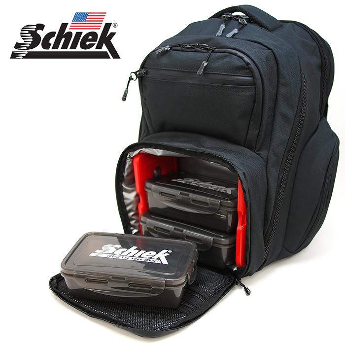 Schiek シーク ミールバックパック ブラック ジムバッグ リュック Meal Pack Backpack フィットネス バッグ ジム 筋トレ