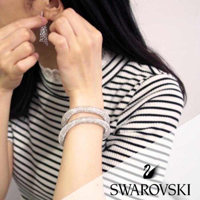 SWAROVSKI スワロフスキー スターダスト ブレスレット&ピアスセット 全2色 スワロフスキー ブレスレット