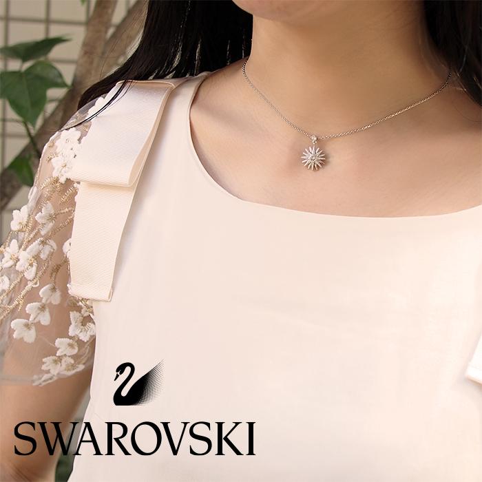 SWAROVSKI スワロフスキー ネックレス&イヤリングセット シルバー 5106101