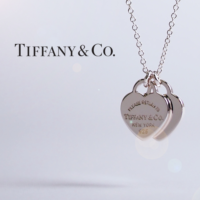 TIFFANY&Co. ティファニー ネックレス シルバー リターントゥティファニー ダブルハートタグミニペンダント 22309307