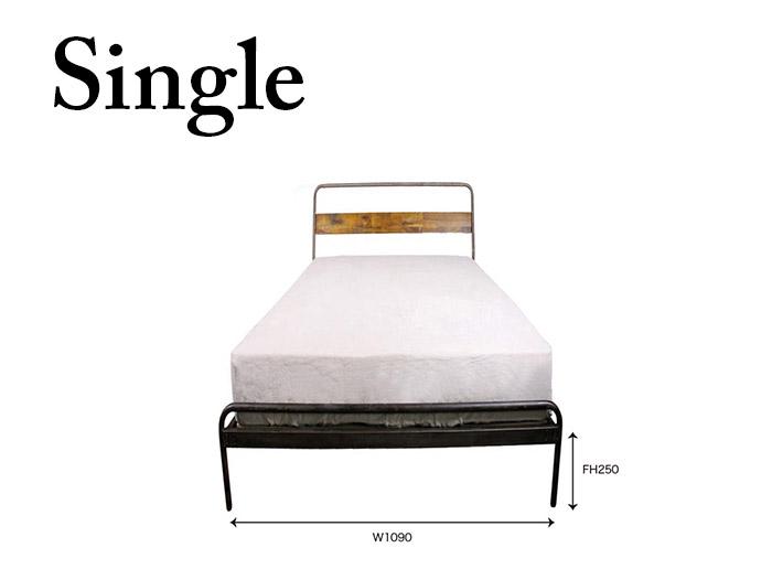 socph bed 【single】 ソコフ ベッド 【シングル】 かっこいいインテリアに加えたいヴィンテージスタイルのベッド