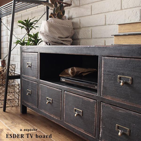 ESDER TV board エスデル テレビ ボード 掠れ具合がヴィンテージ感を演出するテレビボード