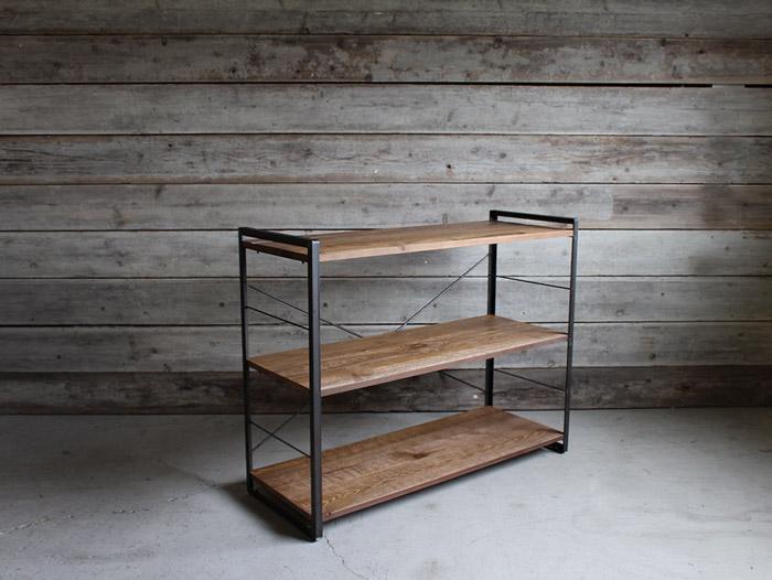 アイアンシェルフ 1200(S)iron shelf 1200(S) インダストリアルな空間にぴったり メンズライクな渋いシェルフ 送料無料