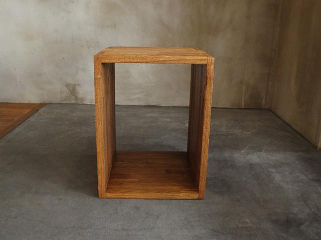 シュウセイ ボックスシェルフ 300 ブラウン SHUSEI box shelf 300 無垢の質感が使っていて心地良い木製ボックス