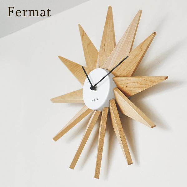 インターフォルム 壁掛け時計 フェルマー 木製 放射状 静音 連続秒針 直径40cm ブラック ホワイト interform Fermat CL-3023 送料無料 取り寄せ商品