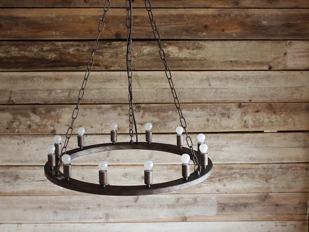 エレメンツ12 アンティーク感と現代的なエッセンスを融合したシンプルなシャンデリア Elements『照明ペンダント』