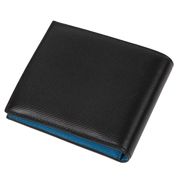 Paul Smith4833 W754 B1ポールスミス 二折小銭財布レザーブラック×ブルー×レッドMqSUVLjGzp