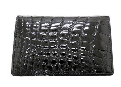CROCODILE 1112クロコダイル 名刺入財布 ブラック 日本製