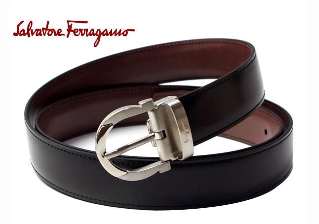 SalvatoreFerragamo 67-1043サルヴァトーレフェラガモベルトユニセックス リバーシブルベルトサイズ115cm カット可能