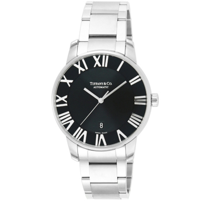 Tiffany Z1810.68.10A10A00Aティファニー アトラスドーム腕時計自動巻 ブラック×シルバー
