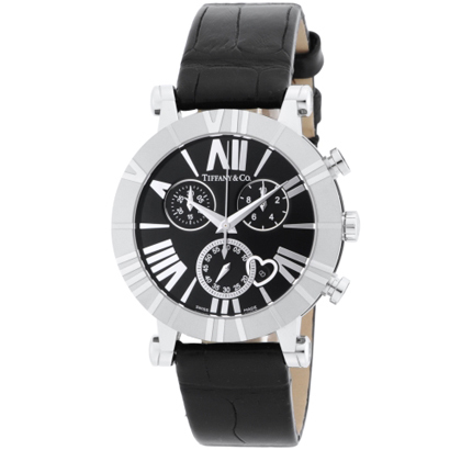 Tiffany Z1301.32.11A10A71A ティファニー Atlas Chrono レディース腕時計ブラック×シルバー