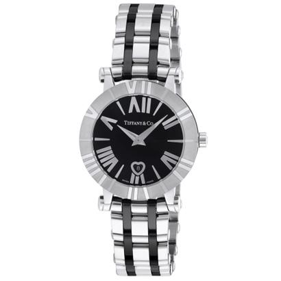 Tiffany Z1300.11.11A10A00Aティファニー Atlas レディース腕時計ブラック×シルバー
