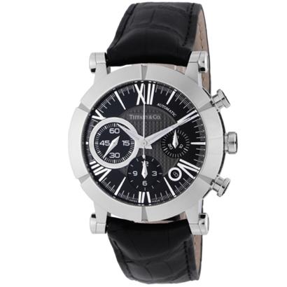 Tiffany Z1000.82.12A10A71A ティファニー Atlas Gent メンズ腕時計ブラック×シルバー