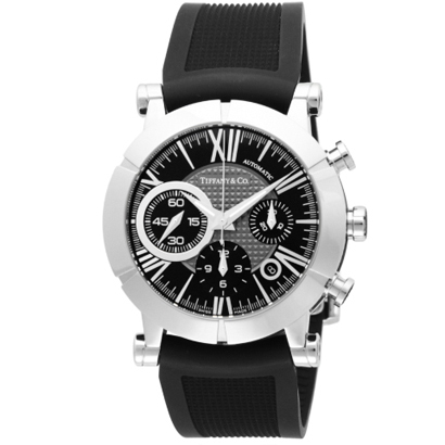 Tiffany Z1000.82.12A10A91Aティファニー Atlas Gent メンズ腕時計ブラック×シルバー