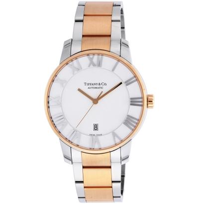 Tiffany Z1810.68.13A21A00A ティファニー Atlas Dome メンズ腕時計ローズゴールド×シルバー