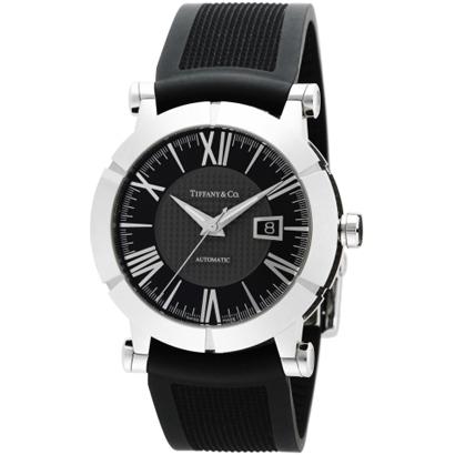Tiffany Z1000.70.12A10A91A ティファニー Atlas Gent メンズ腕時計ブラック×シルバー