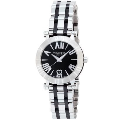 Tiffany Z1300.68.11A10A00Aティファニー Atlas レディース腕時計ブラック×シルバー
