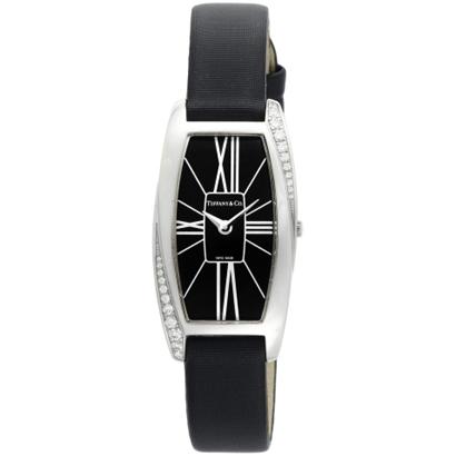 Tiffany Z6400.10.40F10A40Eティファニー Gemea Small レディース腕時計ブラック×シルバー