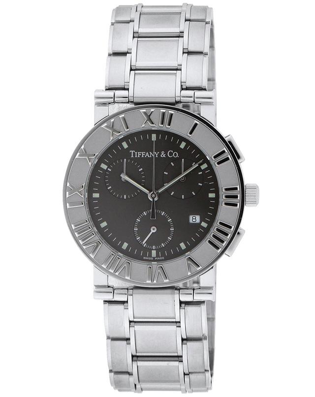 Tiffany Z0002.32.10A11A00AティファニーAtlas Chrono メンズ腕時計シルバー×ブラック
