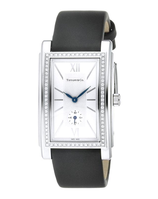 Tiffany Z0030.13.10B21A40Aティファニー Grand メンズ腕時計ブラック×シルバー