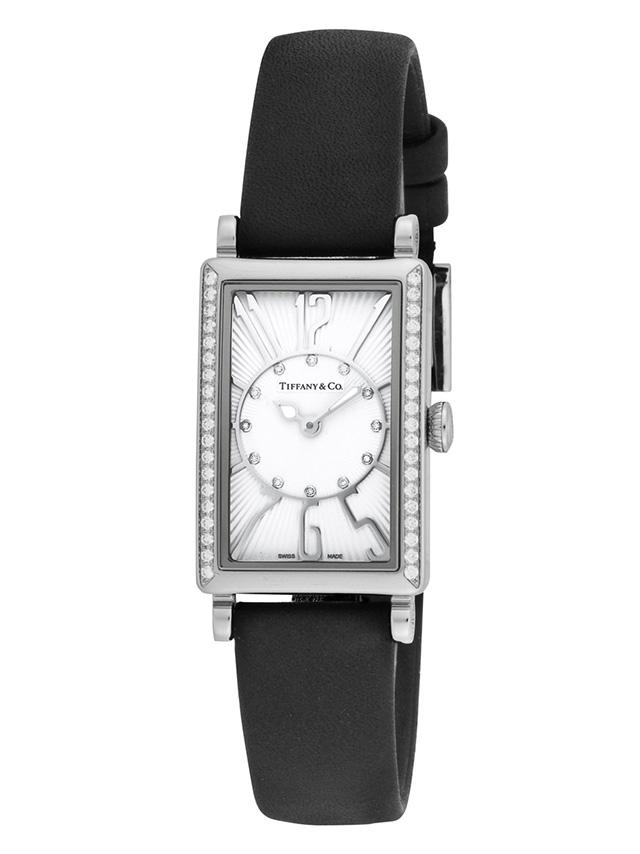 Tiffany Z3000.10.10E21C68AティファニーGalleryレディース腕時計ブラック×シルバー