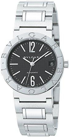 BVLGARI BB33BSSD-AUTOブルガリ ユニセックス腕時計ブルガリブルガリ 33mm オートマチック デイトシルバー×ブラック