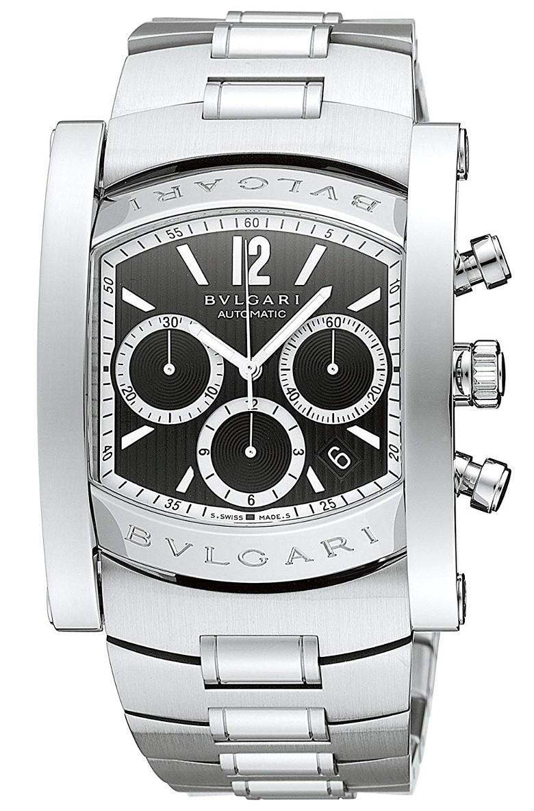 BVLGARI AA48BSSDCHAssioma 48mm Chronographブルガリ アショーマ クロノグラフ 48mmメンズ 腕時計 3針 自動巻 ステンレスシルバー×ブラック
