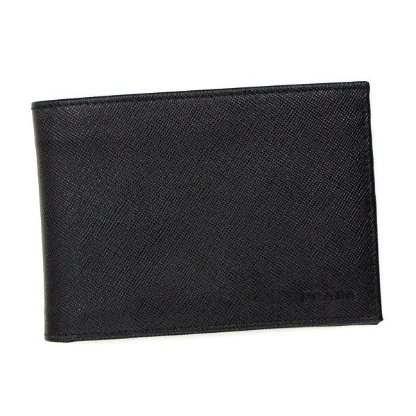 PRADA 2M0002 SAFFIANOプラダ 二折小銭財布レザーブラック