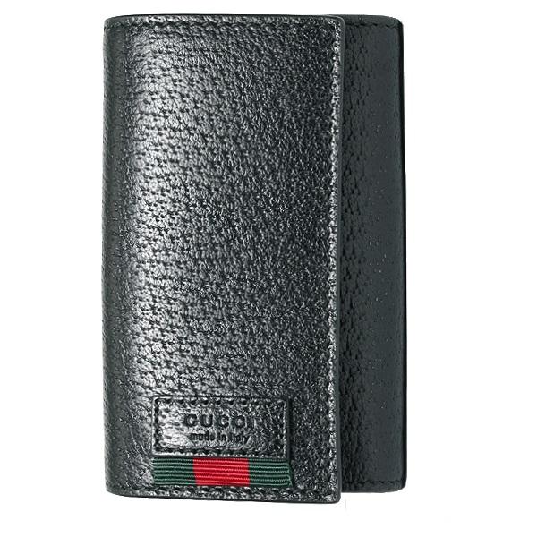 GUCCI 435297-DJ21T-1060グッチ 6連キーケースレザーブラック×ゴールド