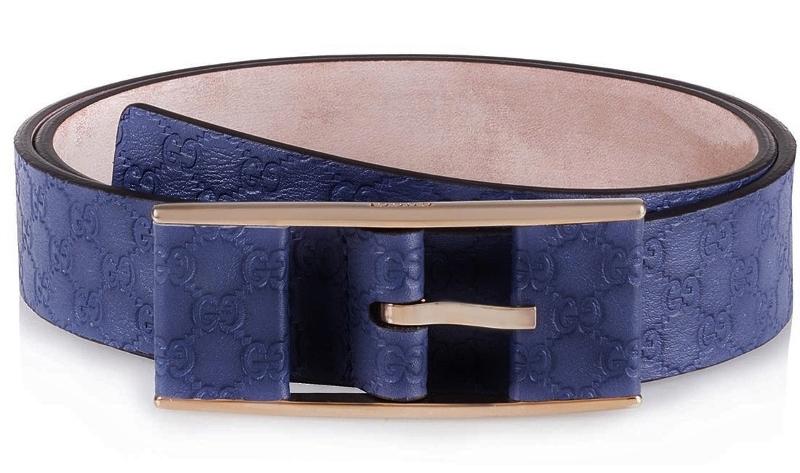 GUCCI 297012-BMJ0G-4246Guccissima leather beltグッチ グッチシマレザー ベルトネイビー×ゴールドサイズ #85/80~90cm対応