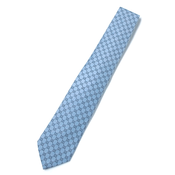 GUCCI 152950-4B002-5962100%SETA MADE IN ITALYグッチ ネクタイシルク100% ブルー系