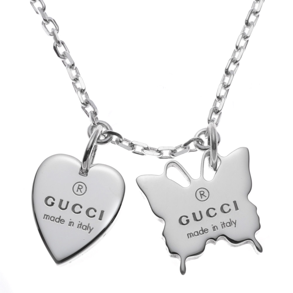 GUCCI 223983-J8400-8106SILVER NECLACEMADE IN ITALY イタリア製グッチ アクセサリー ネックレスシルバー925 銀製品※取寄品