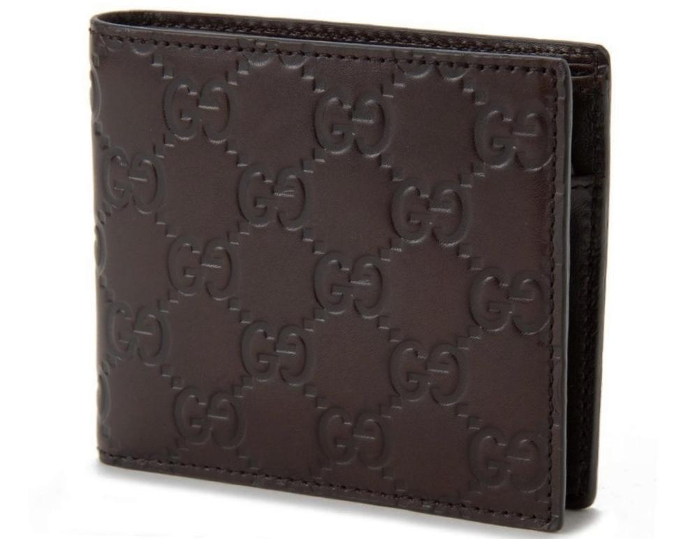 GUCCI 146223-A0V1R-2019グッチ 二折小銭財布グッチシマレザーチョコレート
