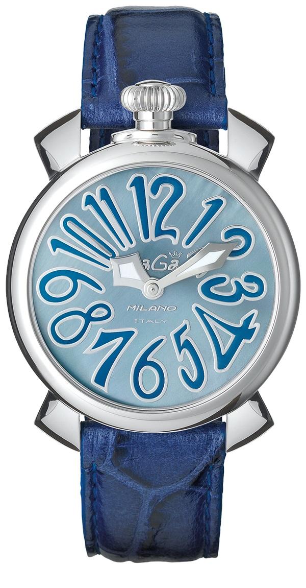 GAGA MILANO5020.11 MANUALE 40MMガガミラノ マヌアーレ 40ユニセックス クオーツ 腕時計レザー ステンレスブルー