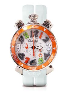 GAGA MILANO 6050.1OR CHRONO 48MM 世界限定250本 011 250 ガガミラノクロノ クォーツ ユニセックス 腕時計ステンレス ラバーベルト 季節のご挨拶 特価 新居祝い 記念品