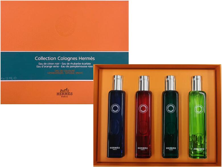 HERMES PARFUMSCollection COlognes Hermesエルメス コレクション コロンセットオーデコロン 15ml 4本セットギフトボックス入