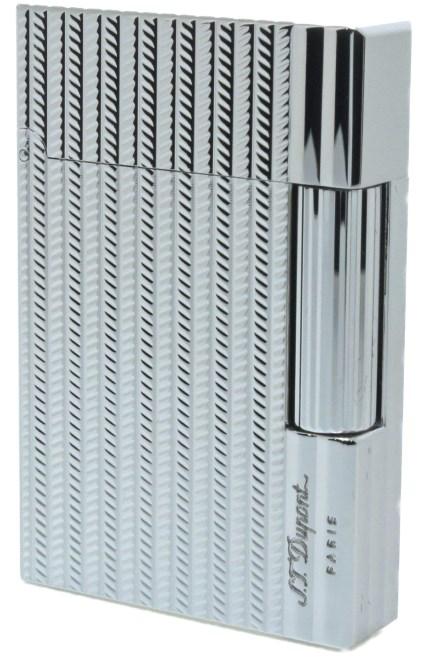 S.T.Dupont 18106 GATSBY NEW COLLECTION エス・テー・デュポン ガスライターギャツビー ニューコレクションシルバー1パラジウムメッキ仕上げ※対応ガス/グリーンラベル