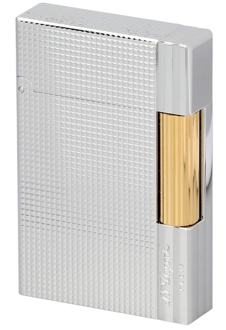 S.T.Dupont 18144 GATSBY NEW COLLECTION エス・テー・デュポン ガスライターギャツビー ニューコレクションゴールド×シルバー(パラジウムメッキ仕上げ)※対応ガス/グリーンラベル
