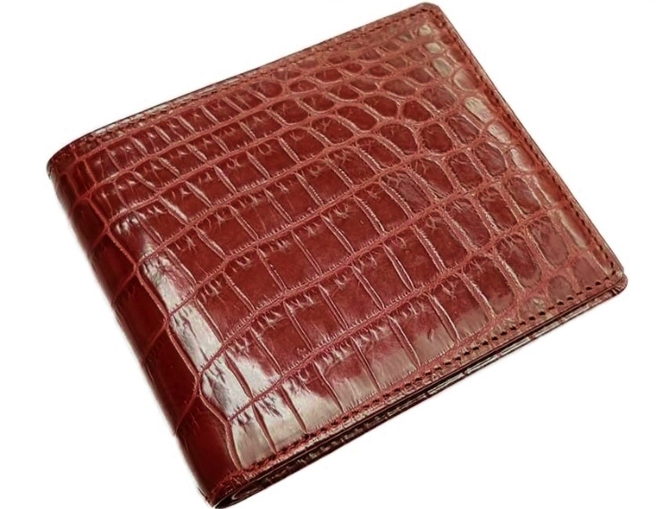 LE'SAC 8117 CROCODILEレザック クロコダイル 無双 二折財布レッド ※正規代理店取寄商品
