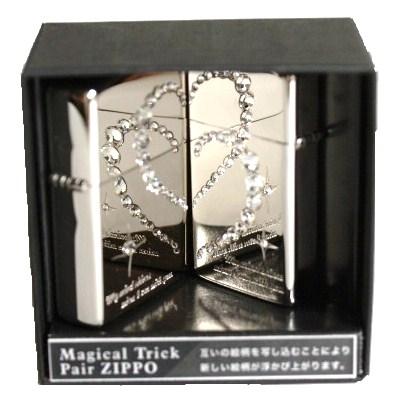 ZIPPO ジッポライターペアジッポマジカルトリック ダブルハートペアライター2個+専用BOX付