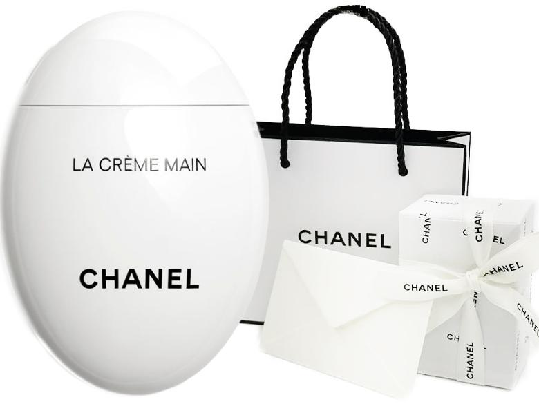 Chanel La Creme Main シャネルラクレームマンハンドクリーム 50 Ml Chanel Lapping Ribbon Shop Bag Message Card