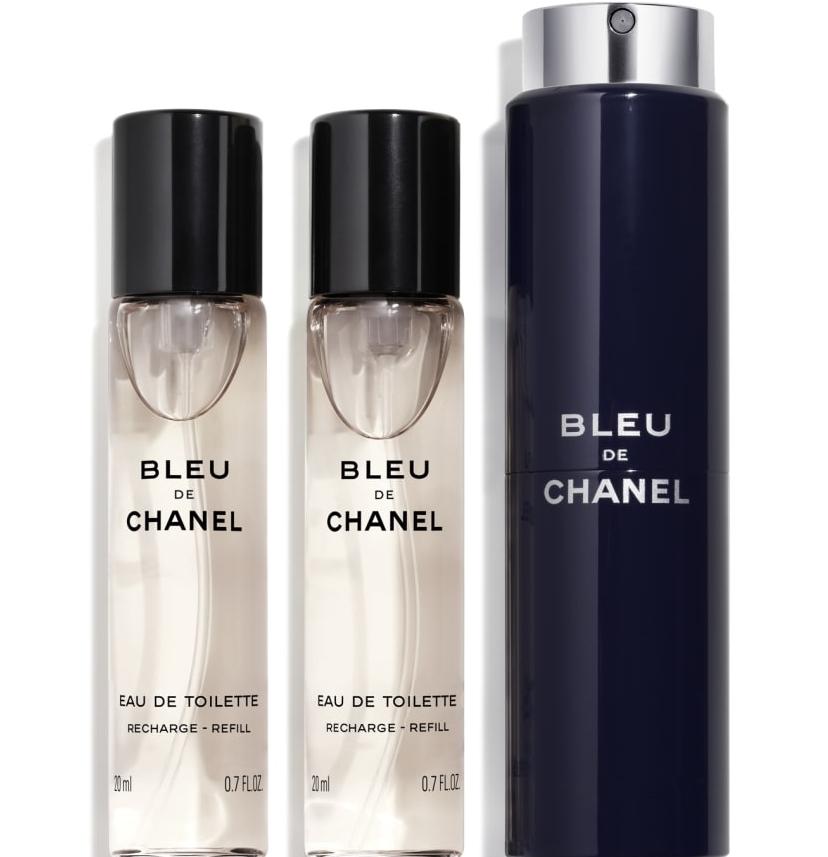 BLEU DE CHANEL EAU DE TOILETTREFILLABLE TRAVEL SPRAY 20ml×3ブルー ドゥ シャネル オードゥトワレットトラベル スプレイCHANEL ラッピング&リボン・ショップバッグメッセージカード付