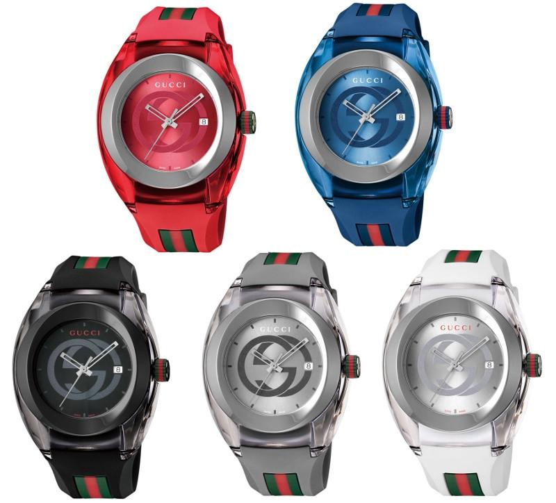 GUCCI SYNC WATCHグッチ 時計 ウォッチ ユニセックススイス製 クォーツ ラバーベルト※カラー選択式