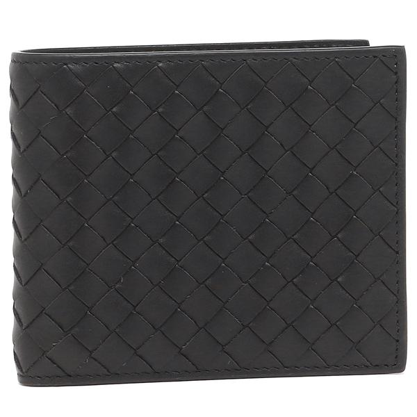 BOTTEGA VENETA 415892-V4651-1000ボッテガヴェネタ 二折財布イントレチャートレザー ブラック
